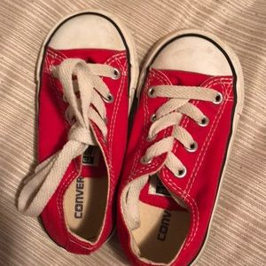 Converse red shoes size 7